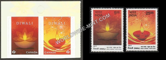 2017 Canada-india Joint Issue Stamp Set-Both parts
