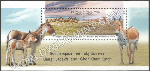 2013 Wild Ass : Kiang, Ladakh & Ghor Khar, Kutch Miniature Sheet