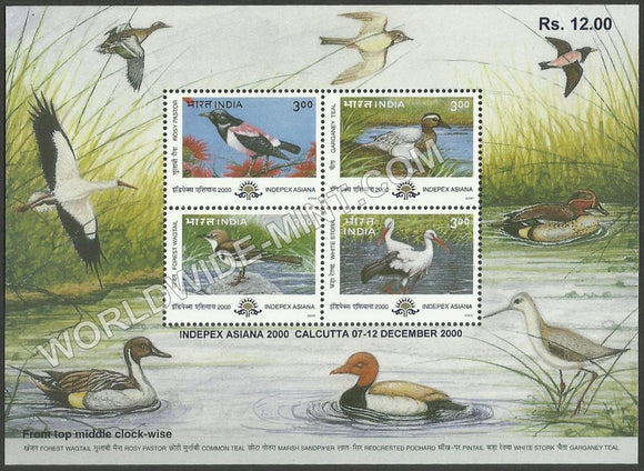 2000 Indepex Asiana 2000 : Asian International Philatelic Exhibition - Birds Miniature Sheet