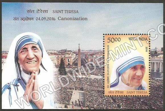 2016 Saint Teresa - Cannonization  Miniature Sheet