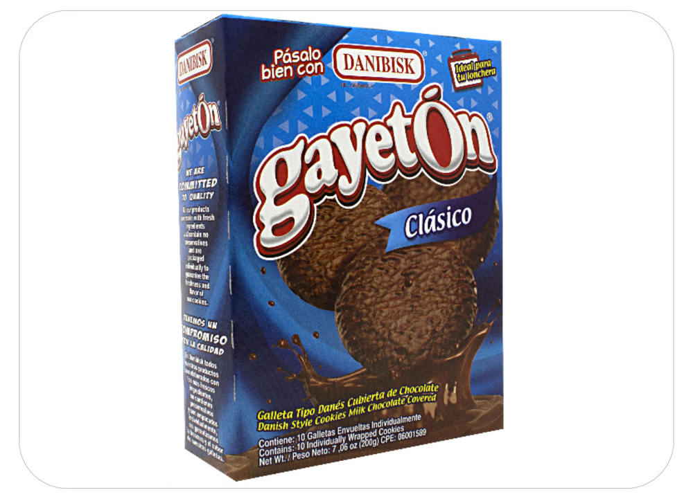 Gayetón Clasico - Danish Style Cookies Milk Chocolate Covered