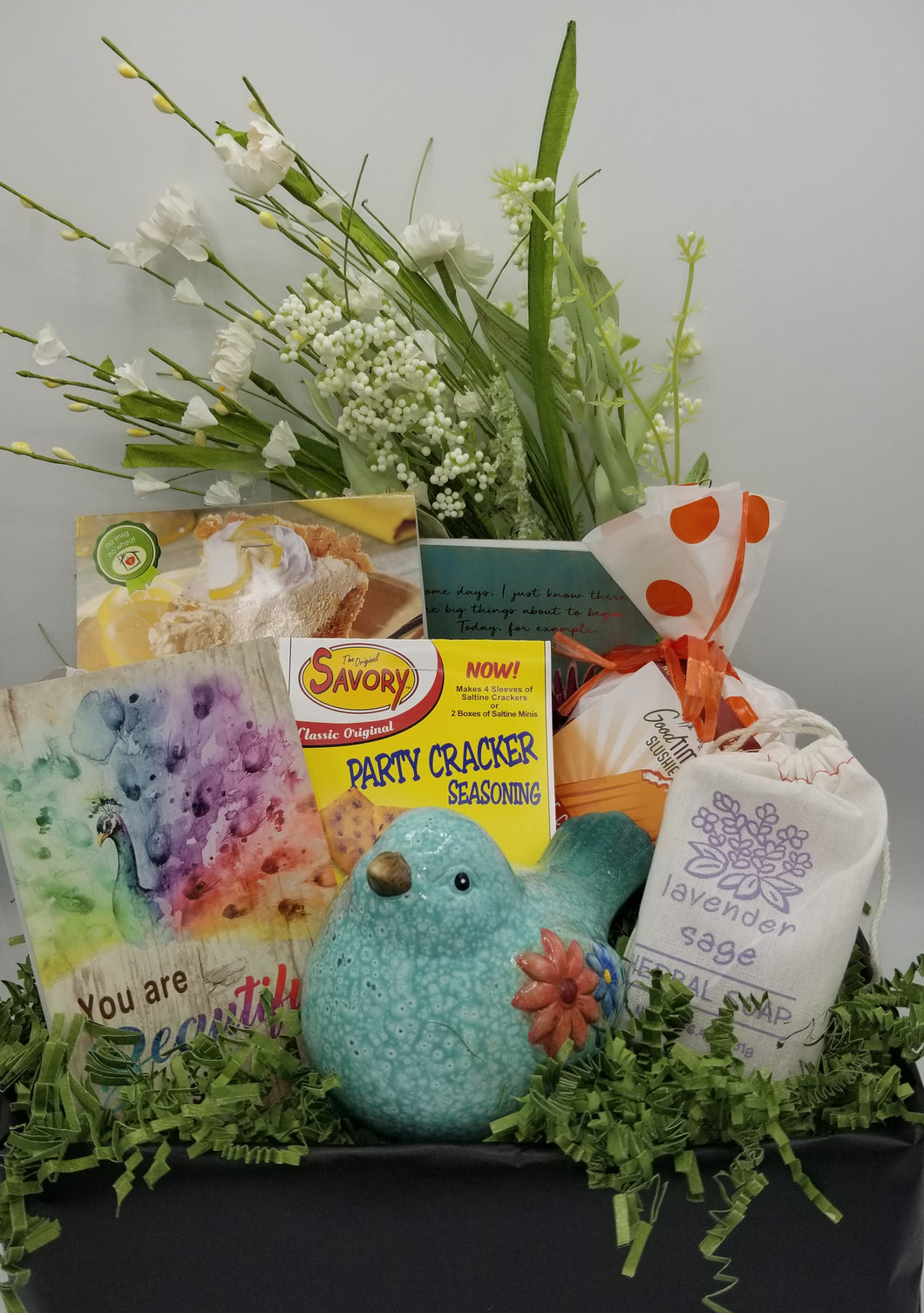 gift basket for her, ganz, greenwich soap, good time slushi, wisconsin gift baskets, local delivery