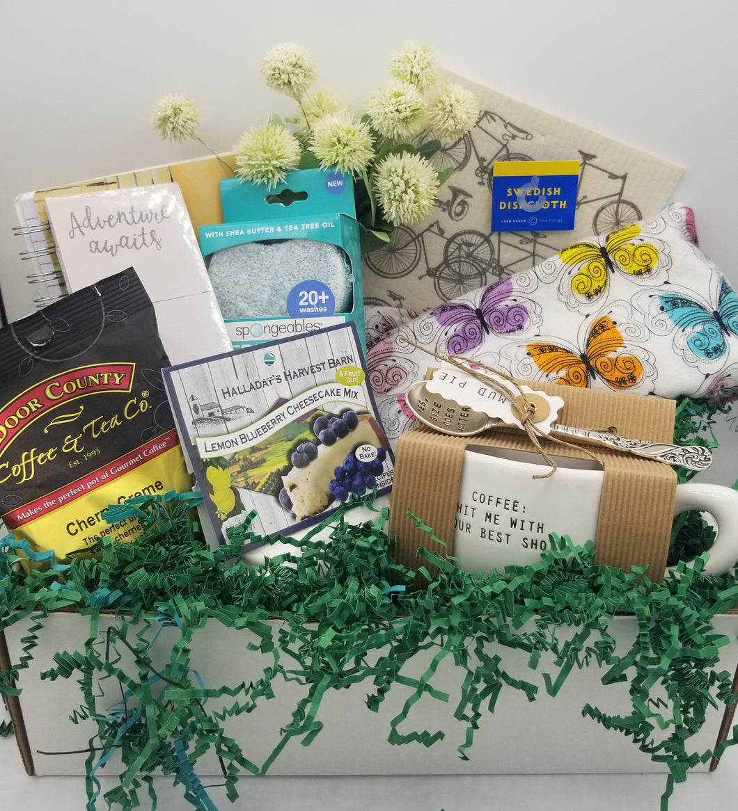 gift baskets green bay, mother's day gift baskets, shops local, local delivery, gourmet gift baskets