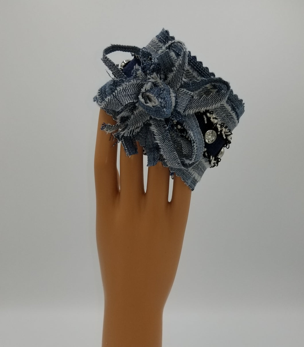 Denim bracelet, fashion bracelet, Josie T. Designs, boutique green bay, shop local, boho bracelet