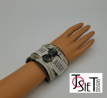 Load image into Gallery viewer, fabric bracelet, handmade bracelet, recycled bracelet, upcycled bracelet, fashion bracelet