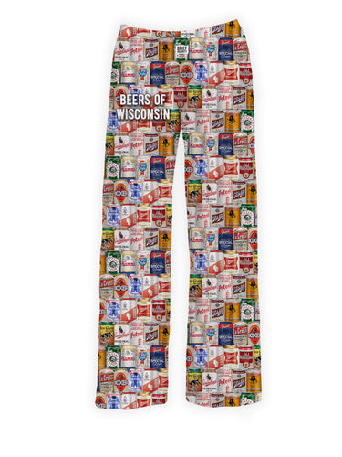 Brief insanity, lounge pants, beers of wisconsin, wisconsin beers, wisconsin gifts