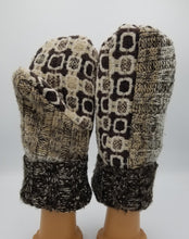 Load image into Gallery viewer, handmade mittens, handmade green bay wisconsin, recycled mittens. sweater mittens