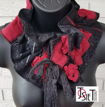 Load image into Gallery viewer, upcycled scarf, handmade scarf, womens scarf, reycycled scarf