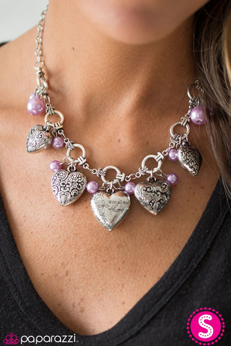 With All Your Heart - Purple - Trendy Jewels Boutique By Jenn