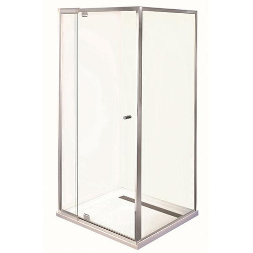 Smart Pivot Shower Screen Front & Return M6790 Silver