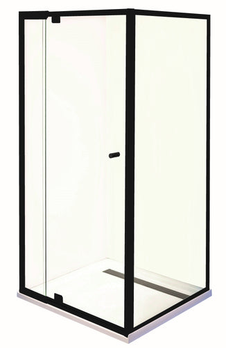 Smart Pivot Shower Screen Front & Return M6890 Black