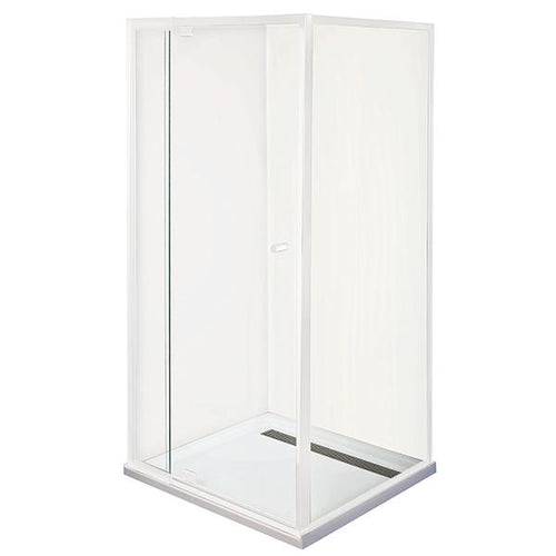 Smart Pivot Shower Screen Front & Return M6890 White