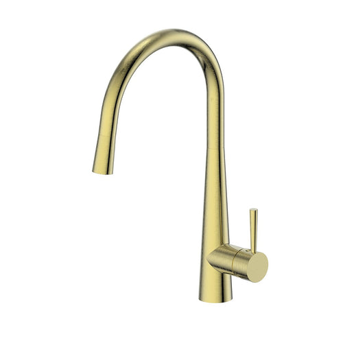 Galiano Pull-Down Sink Mixer Brushed Brass