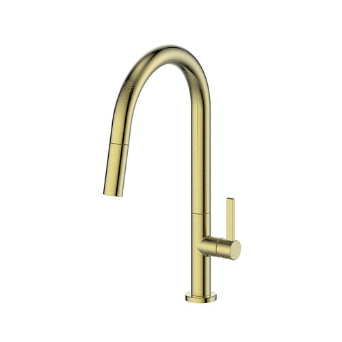 Luxe Pull Down Sink Mixer Brushed Brass