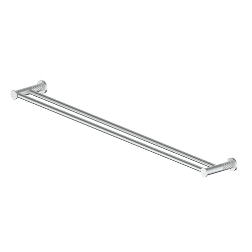 Textra Double Towel Rail Brushed Stainless