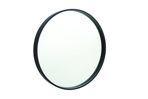 Black Framed Round Mirror 900mm