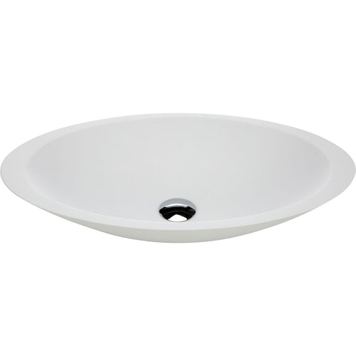 Bahama Matte White Soild Surface Basin