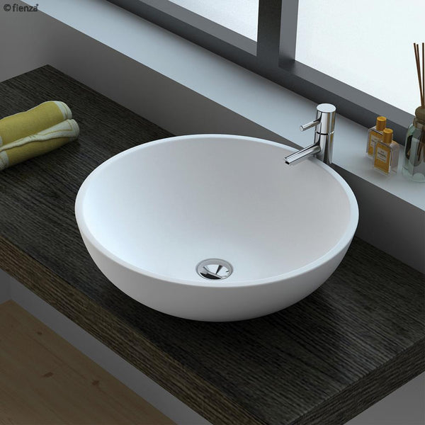 Load image into Gallery viewer, Lexy Matte White Soild Surface Basin
