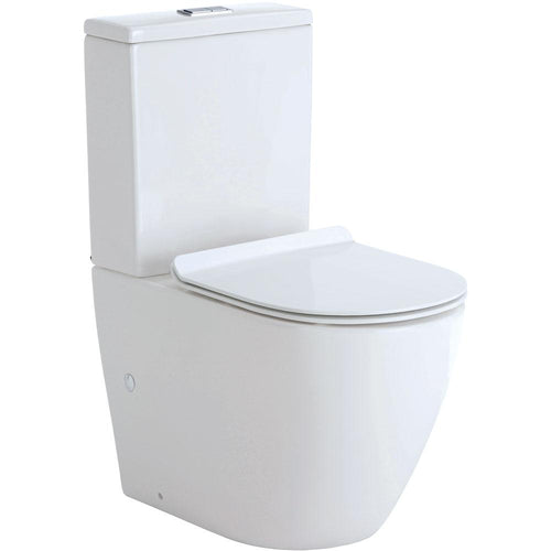 Koko Skinny Seat Back To Wall Toilet Suite Gloss White
