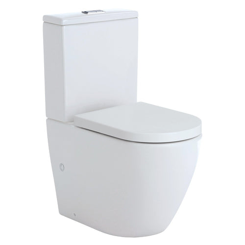 Koko Rimless Gloss White Back To Wall Toilet Suite