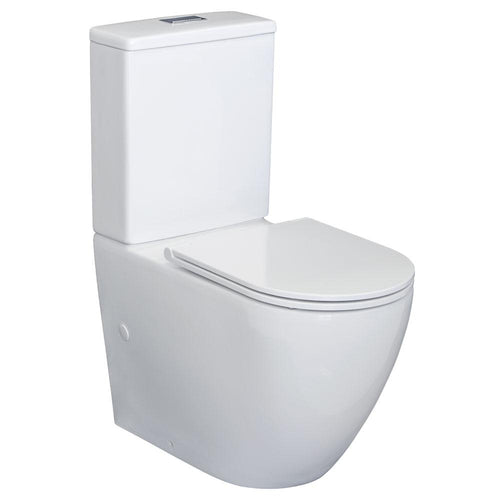 Alix Back To Wall Toilet Suite, Slim Seat