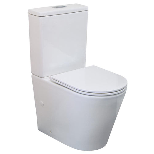 Isabella Back To Wall Toilet Suite, Slim Seat