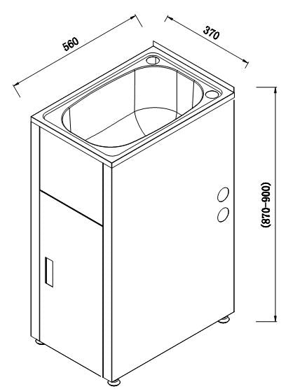 Load image into Gallery viewer, Lavassa Laundry Tub with Cabinet