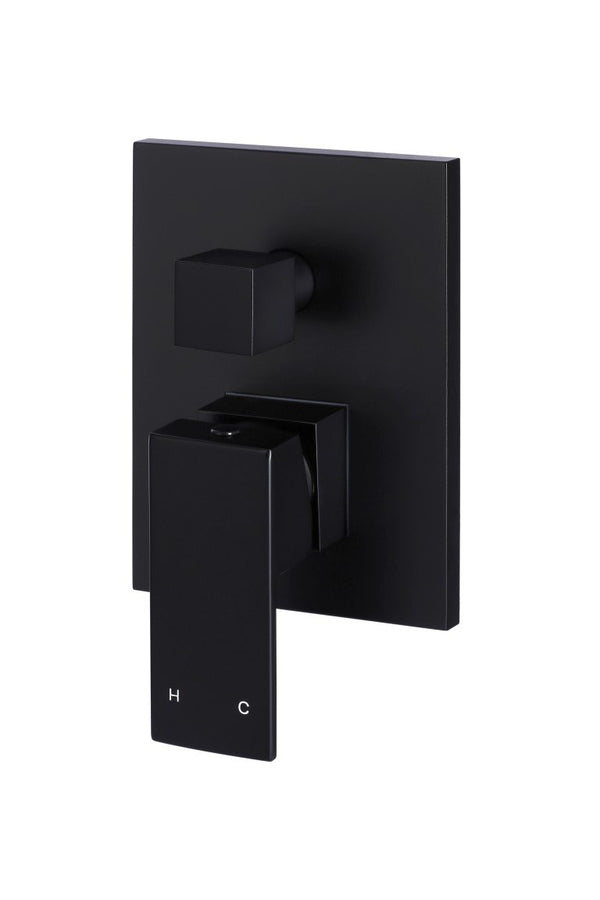 Load image into Gallery viewer, square-diverter-mixer-matte-black