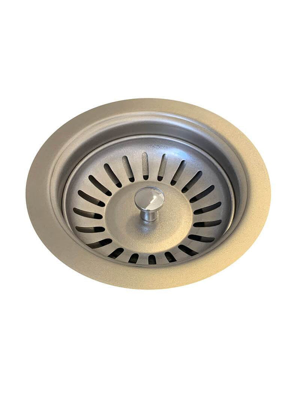 Load image into Gallery viewer, sink-strainer-and-waste-plug-basket-with-stopper-brushed-nickel-pvd-finish