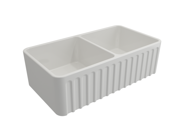 Load image into Gallery viewer, Novi 85 x 46 Fireclay Sink White
