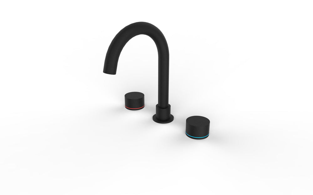 Kara 3 Piece Basin Set Matte Black