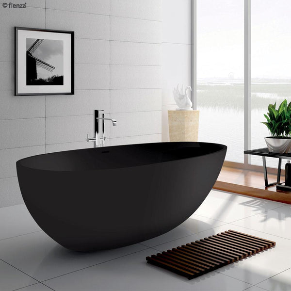 Load image into Gallery viewer, Bahama 1700 Matte Black Cast Stone Soild Surface Bath