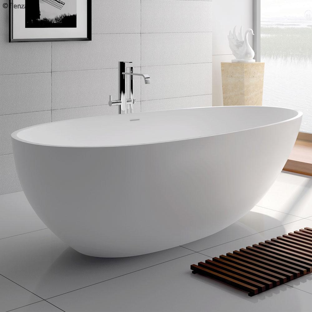 Bahama 1500 White Cast Stone Soild Surface Bath