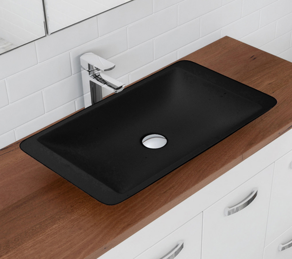 Load image into Gallery viewer, Classique 600 Matte Black Soild Surface Basin