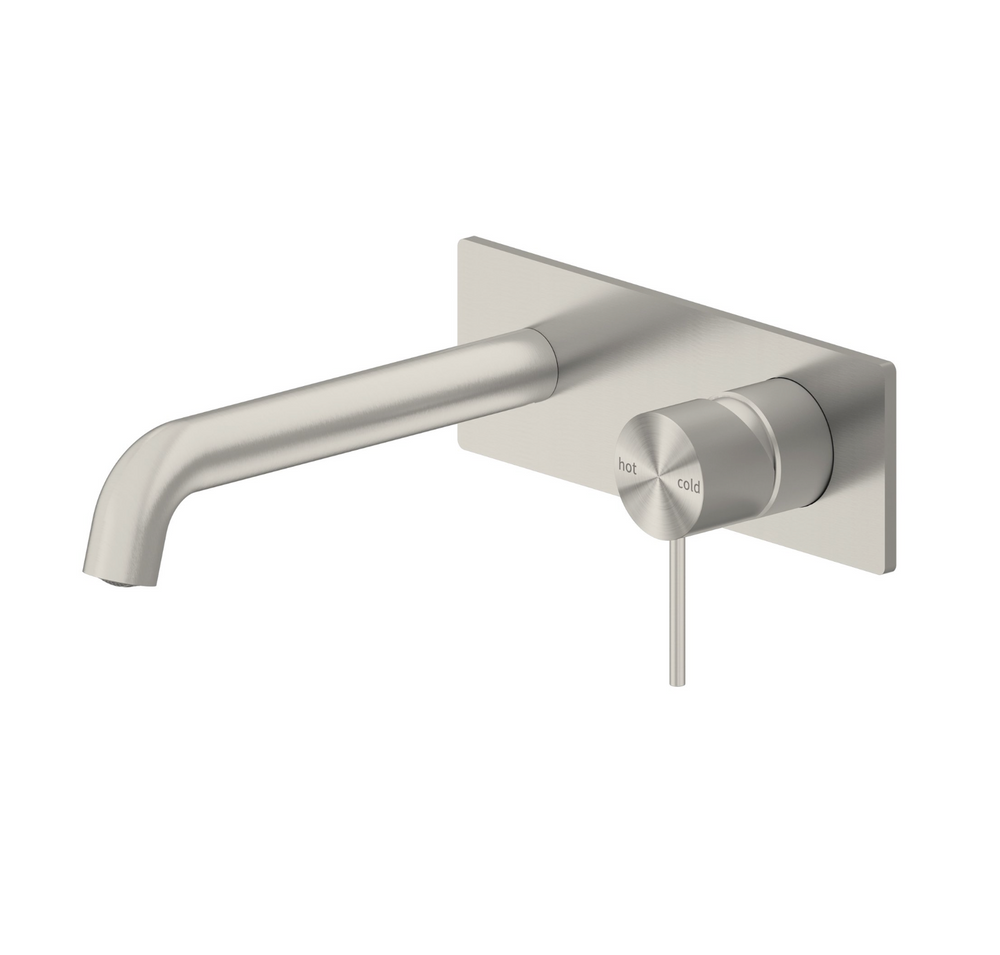 Wall Basin Mixer On Backing Plate
