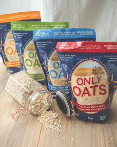 ONLY OATS (Variety Pack) - Rolled Oats / Quick Flakes / Oat Flour / Steel Cut Oats
