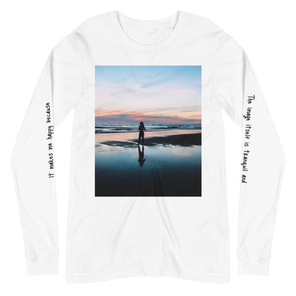 """i love the beach"" - Unisex Long Sleeve Tee"