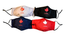 Load image into Gallery viewer, Classic Canadian maple leaf washable reusable 3 layers cotton face mask