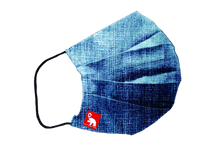 Load image into Gallery viewer, Denim blue antibacterial washable waterproof face mask