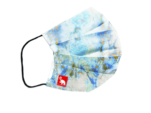 Marble blue antibacterial washable waterproof face mask