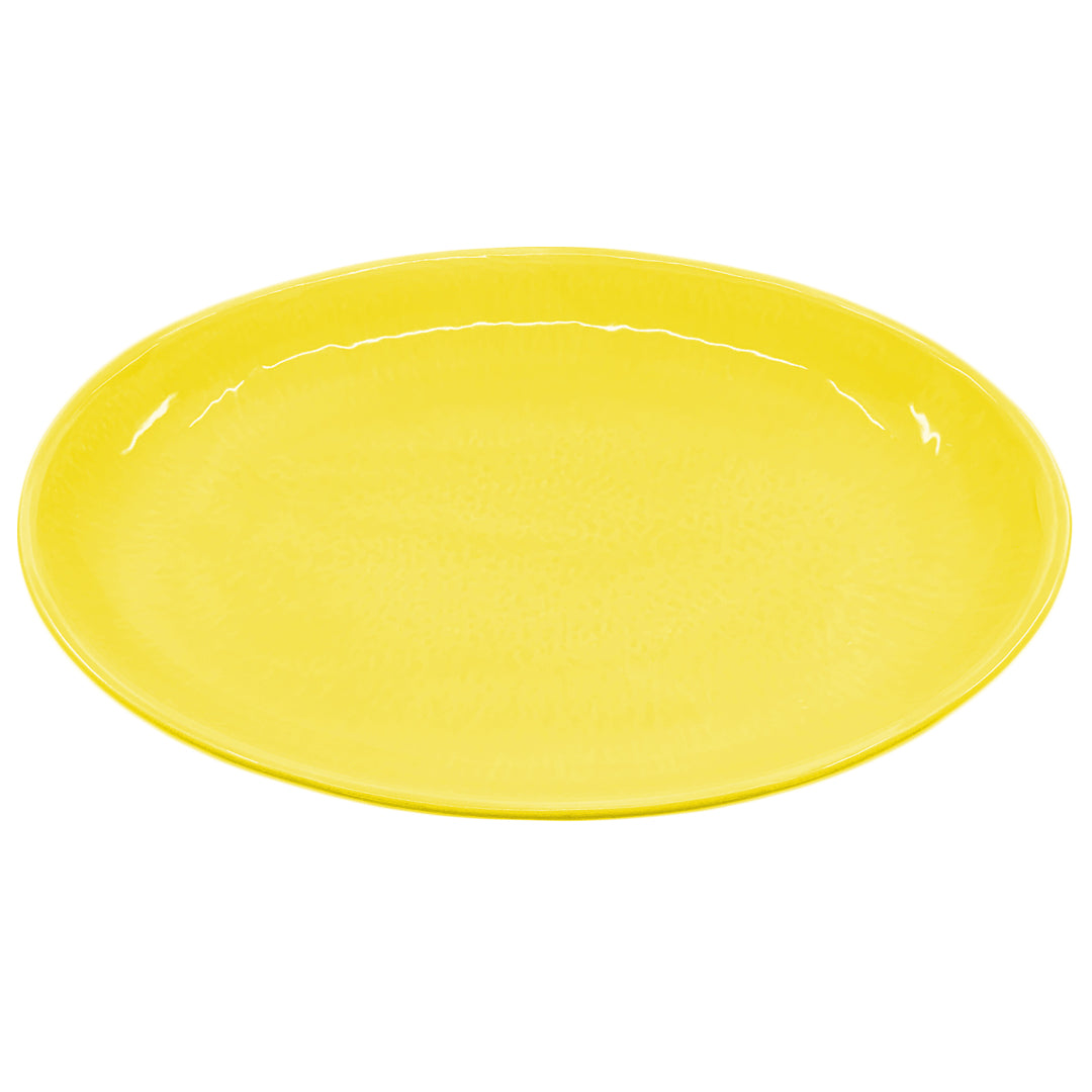 OVAL SERVING YELLOW
