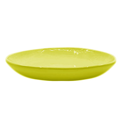 PEASANT PLATE LARGE CHARTREUSE