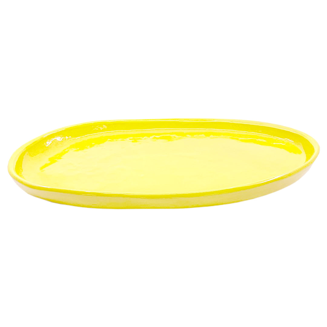 SMALL OVAL PLATTER YELLOW