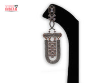 Load image into Gallery viewer, American Diamond Heavily Embellished Tassel Drop Earrings