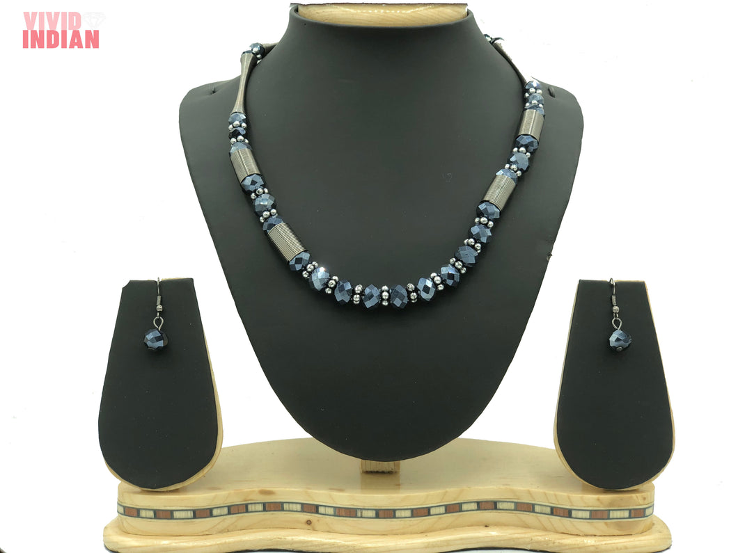 Blue Crystals Western Necklace
