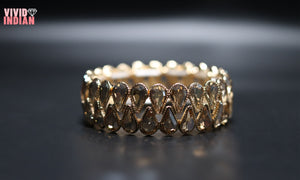 Elegant Gold Plated Diamond Bracelet