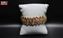 Load image into Gallery viewer, Elegant Gold Plated Diamond Bracelet