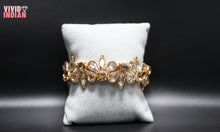 Load image into Gallery viewer, Floral Inspired Motif Gold Bracelet