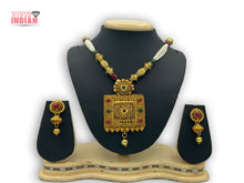 Load image into Gallery viewer, Gold Stanza Gold Gems Heavily Embellished Necklace Set