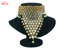 Load image into Gallery viewer, Heavily Embellished Faux Gems Necklace With Choker Set